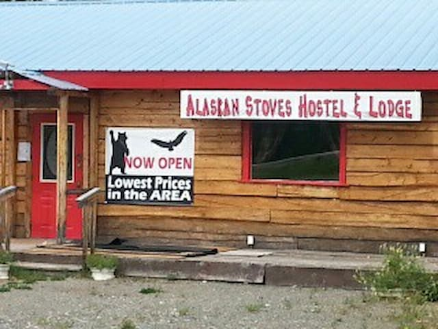 Alaskan Stoves Hostel: Room 3-shared/Bed B - Tok - Vandrarhem