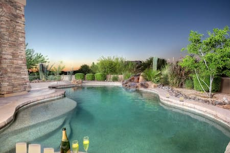 Tranquil Trail- Gorgeous Carefree home with views, pool, and home theater. - Carefree - House