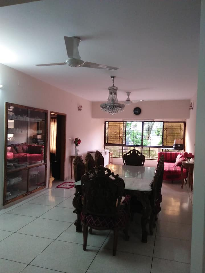 At Dhanmondi 6/A Full Furnished apartment.