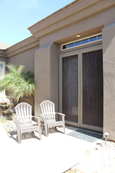 Private entry to your Casita.