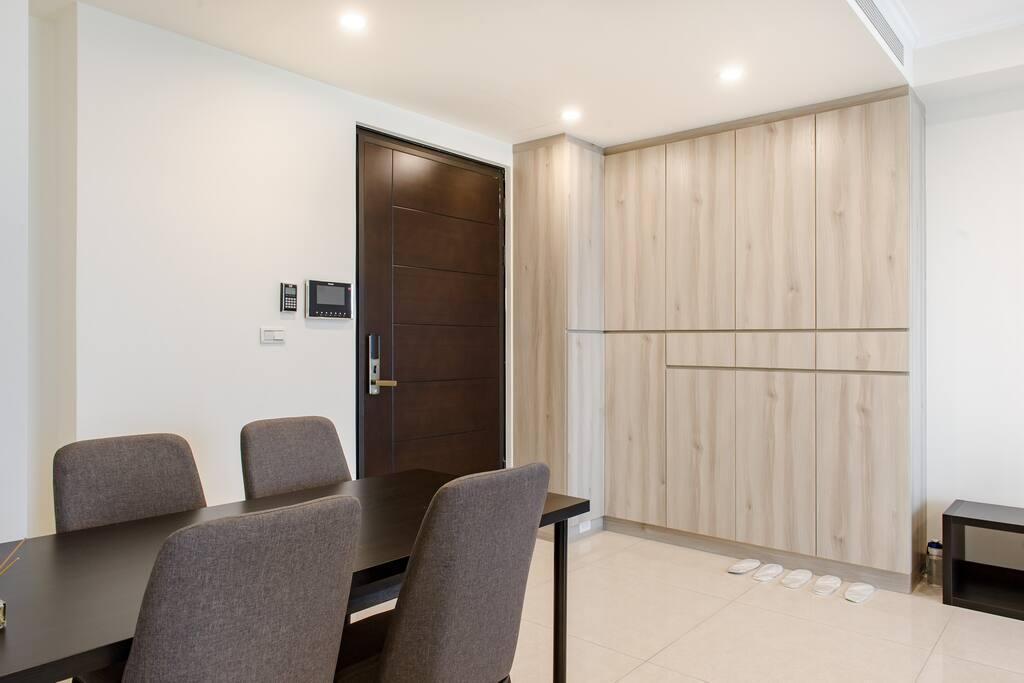 Front door area.