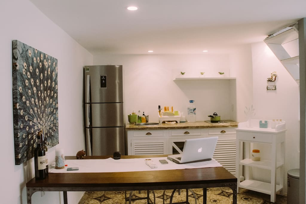 Kitchen, view from main door.