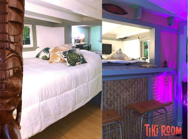 Sunset Beach, Tiki Room! - Private entrance, AC