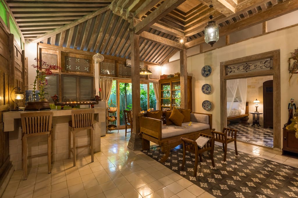 Joglo Villa With Lush Tropical Garden 1 Br Villas For Rent In Denpasar Selatan Bali Indonesia