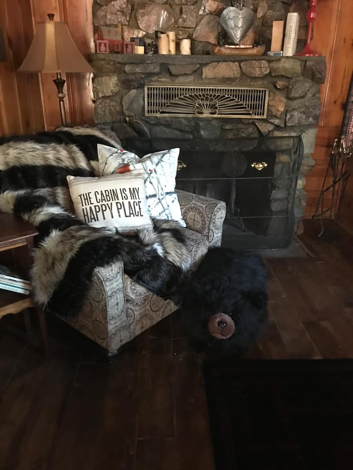 2 blks to Bear mountain! Rustic, remodeled getaway