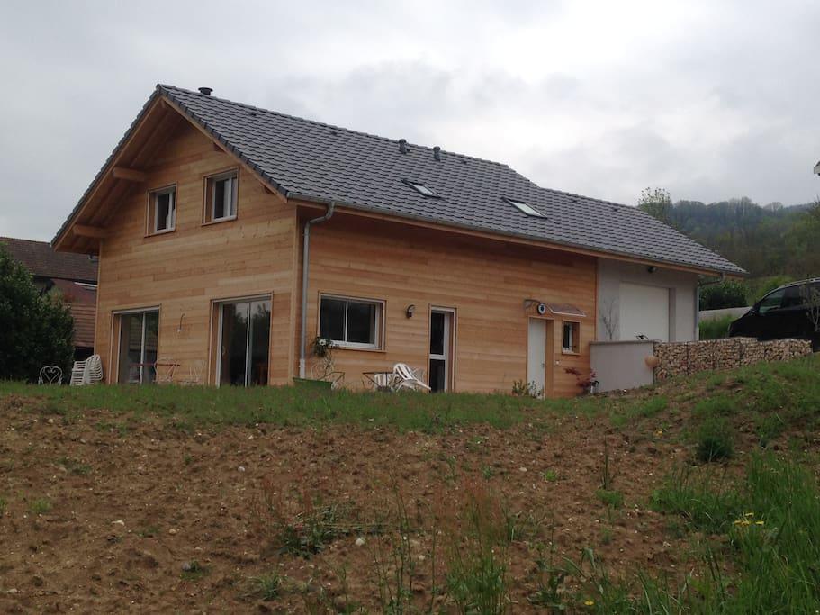 Voici notre maison bois !