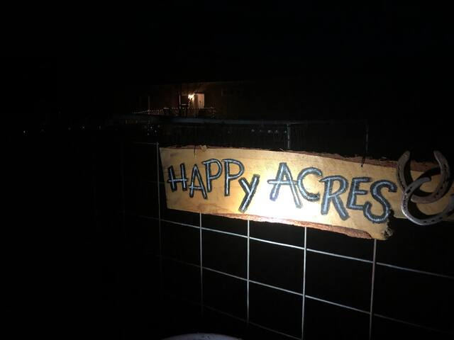 Look for this sign welcoming you to the right property day or night you should see us!