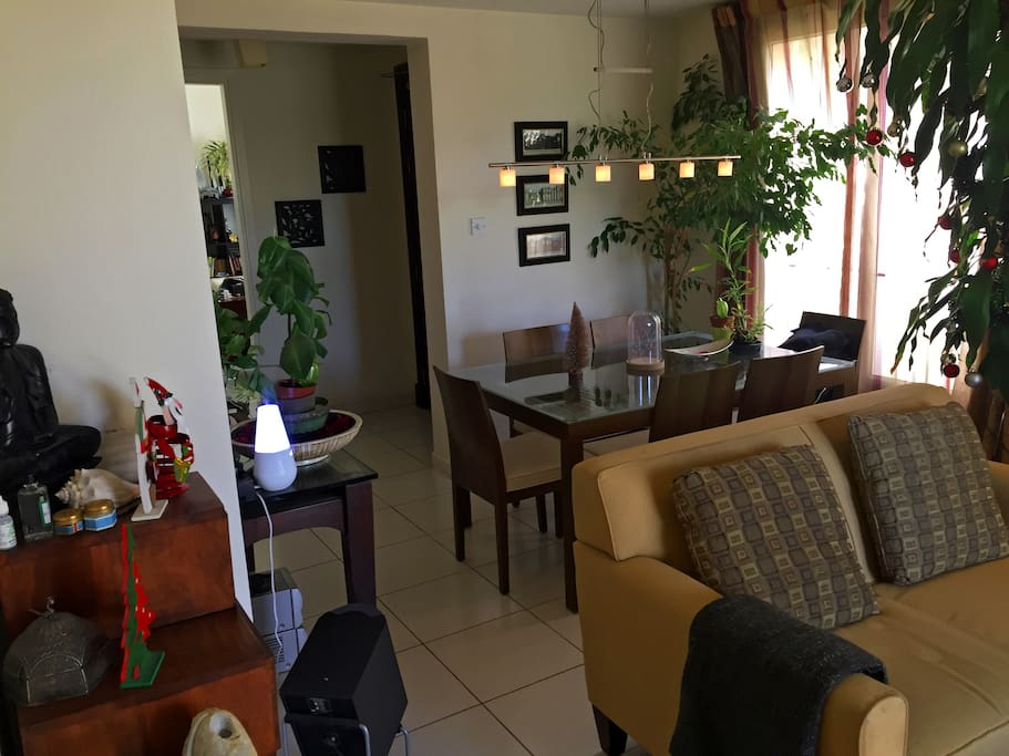 There dining room is adjacent to the living room area