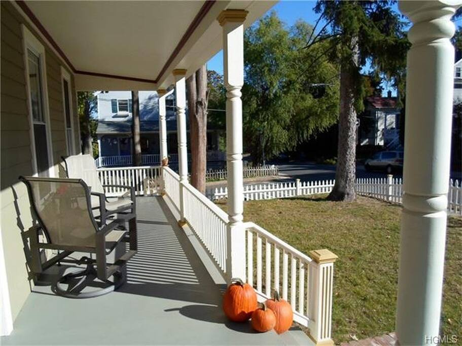 Unwind on the front porch
