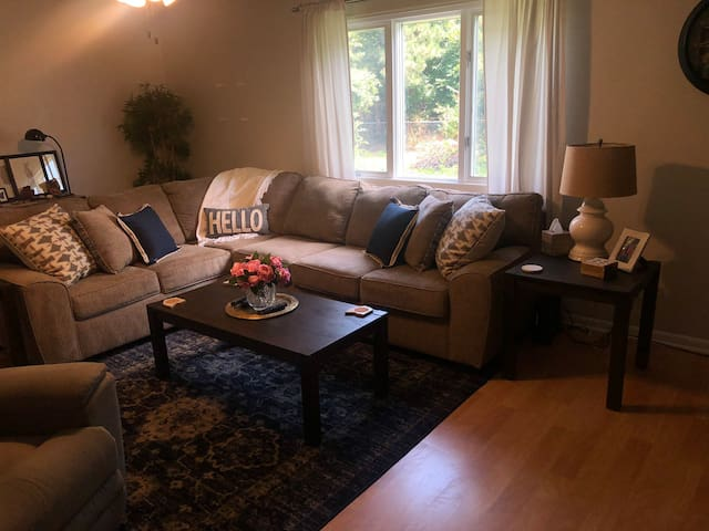 Comfy living room space for you to enjoy!