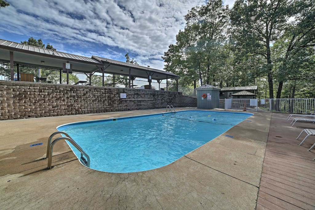 In warmer weather, enjoy a swim in one of the two community pools.