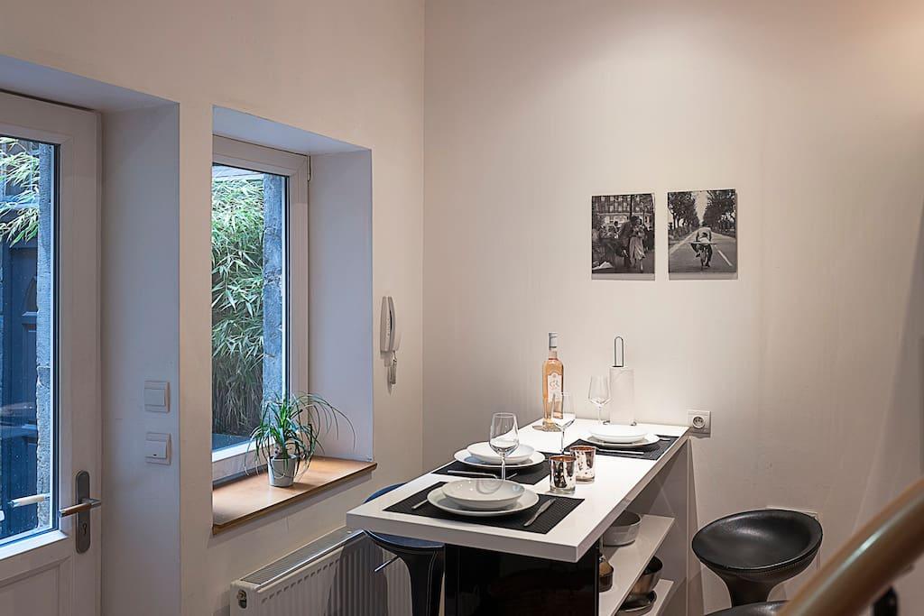 Triplex meubl contemporain maisons de ville louer for Appartement atypique metz