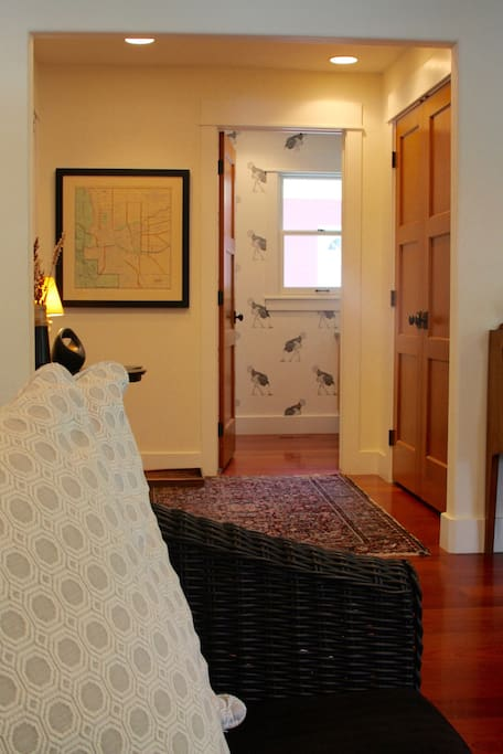 view into guest bathroom