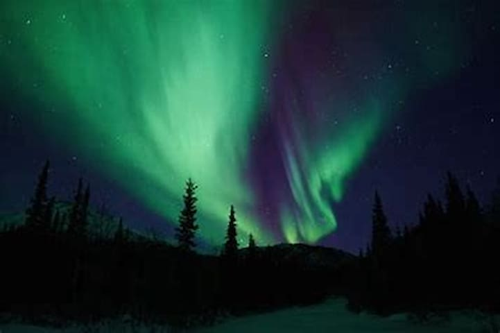 You can see the Aurora Borealis from outside Our house in the season if the wethercondition is good.