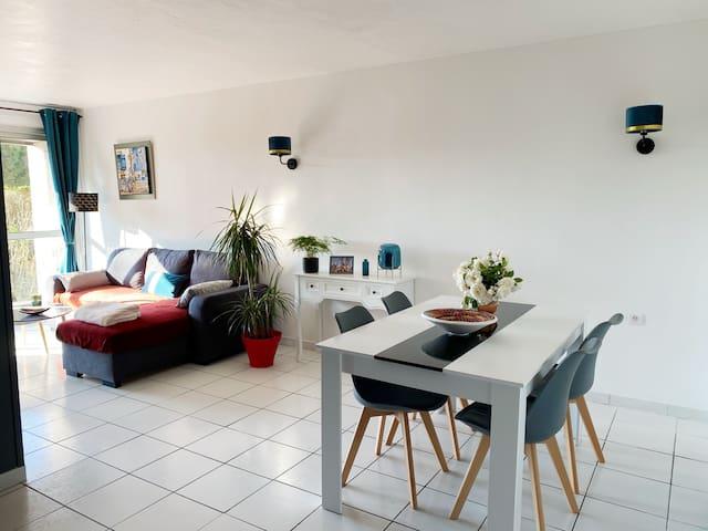Bel appartement à 100m de la plage avec jardin
