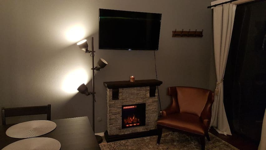 Have a seat, crank up the fireplace and  let yourself recharge for your next days adventure.