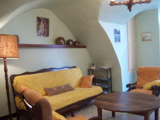 Gîte de France voûté centre village cour+solarium - Montpeyroux - House