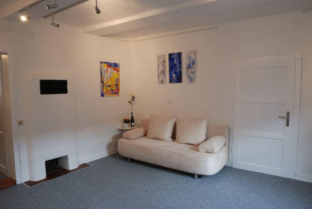 wohnen im atelier stein bild g ntersen wohnungen zur miete in adelebsen niedersachsen. Black Bedroom Furniture Sets. Home Design Ideas