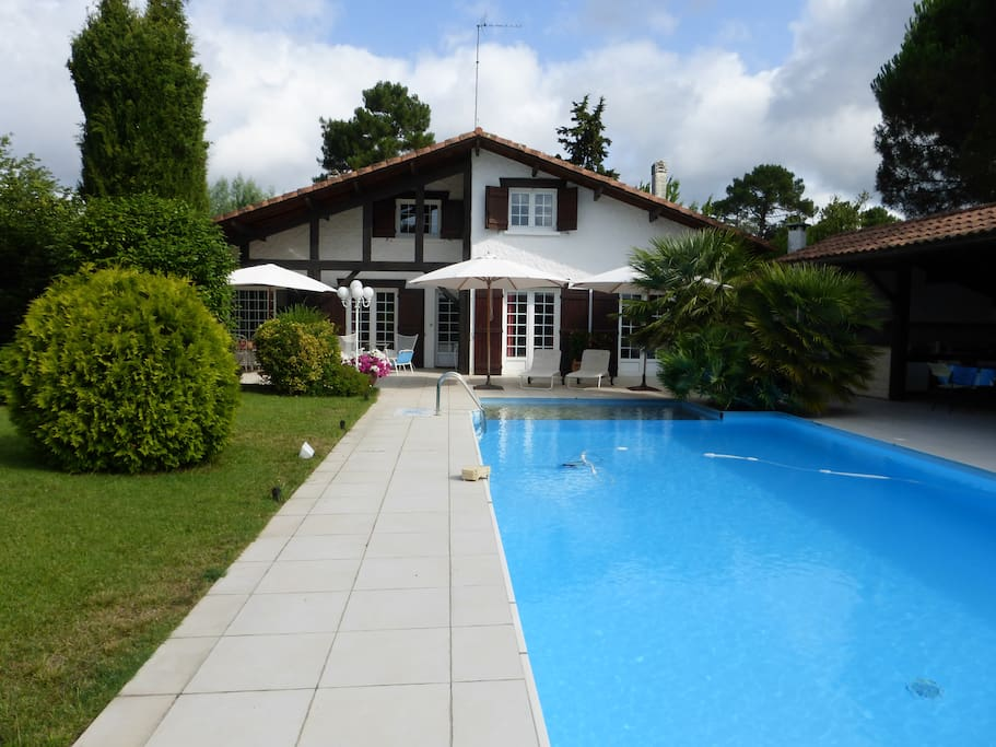 Grande landaise 12 pers avec piscine andernos houses - Piscine andernos les bains ...