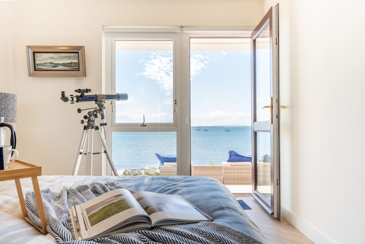 Stunning views from the downstairs double bedroom leading on to the spacious patio