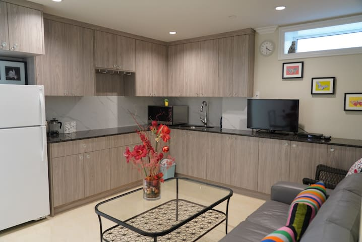 Brand New 2-Bedroom Suite with Wi-Fi and TV.