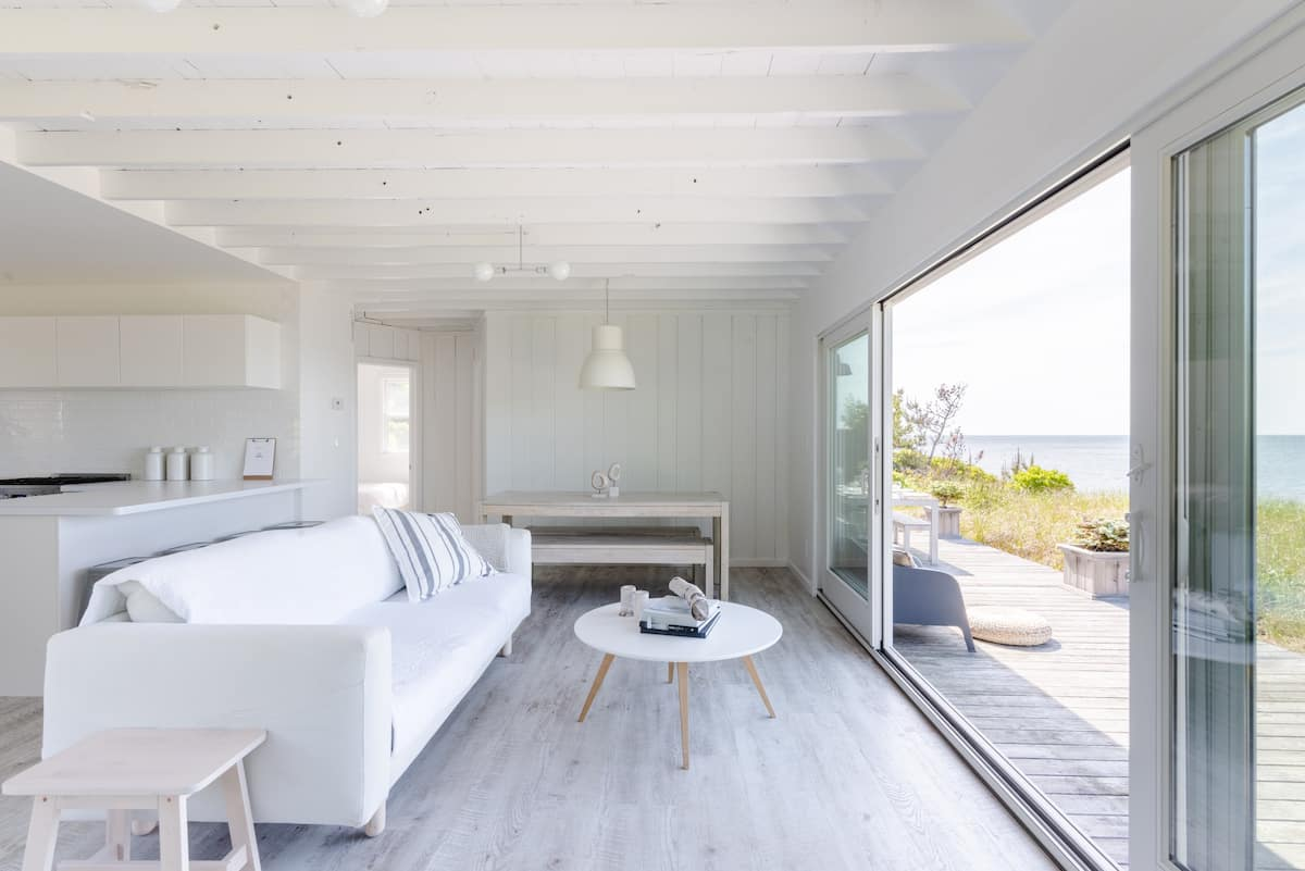 Savor Blazing Ocean Sunsets at a Soothing Beachfront Haven