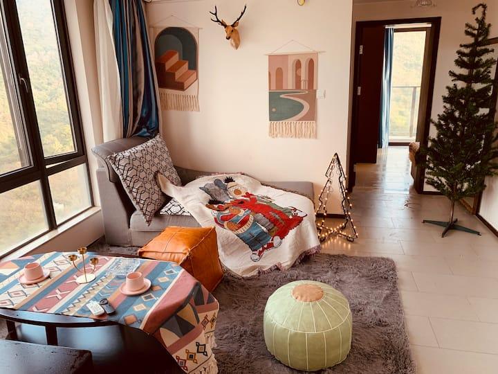 宿最猫·巽寮湾UFO游泳池摩洛哥电影房可做饭一房一厅