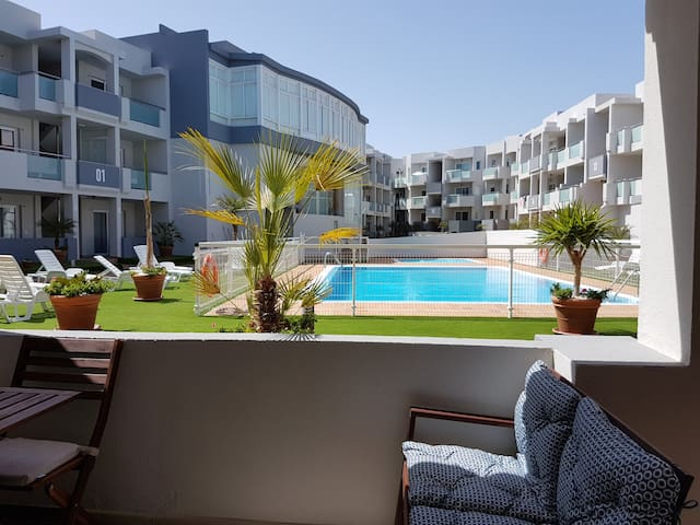 Apartment with jacuzzi pool in Corralejo centre