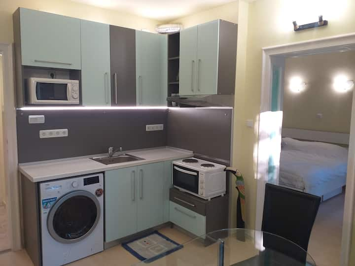 Friendly 2 Room Apartment - Top Center