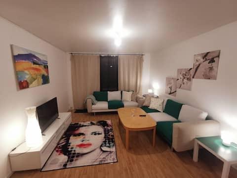 Möblierte Wohnung, 1 Schlafzimmer mit 1 Wohnzimmer