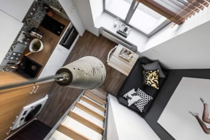 Discount ⭐️ Trendy tiny Loft in central Vilnius ⭐️