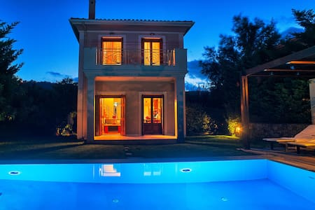 Aeriko-Ammos Beachfront villa with Stunning View and Rrivate Pool. - LEFKADA