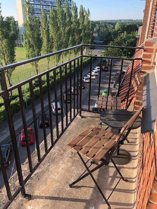 Eastern balcony, morning sun