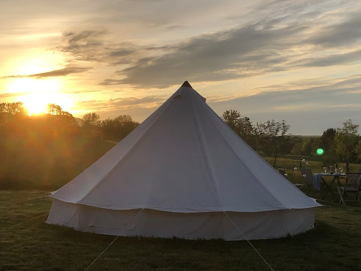 Valentines Glamorous Camping. Bell Tent (No.1)