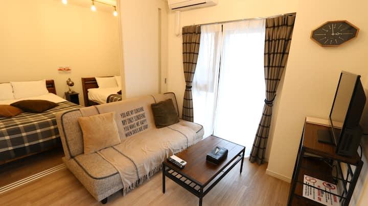 【Legatio博多ホテル  Deluxe Room4C】中洲とキャナルシティ博多に近い好立地!