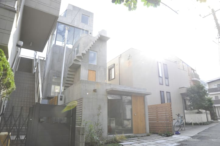 2 min Nakameguro/Hut and Tower House - Meguro - House