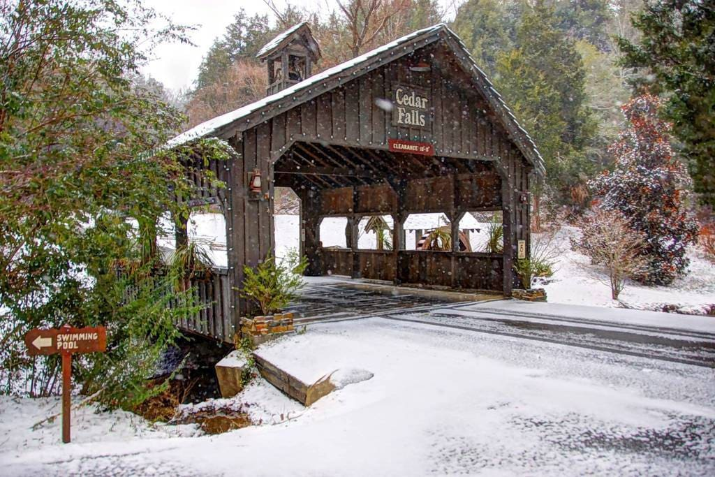 covered bridge entrance