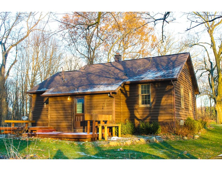 Private home on wooded lot near Gull Lake.