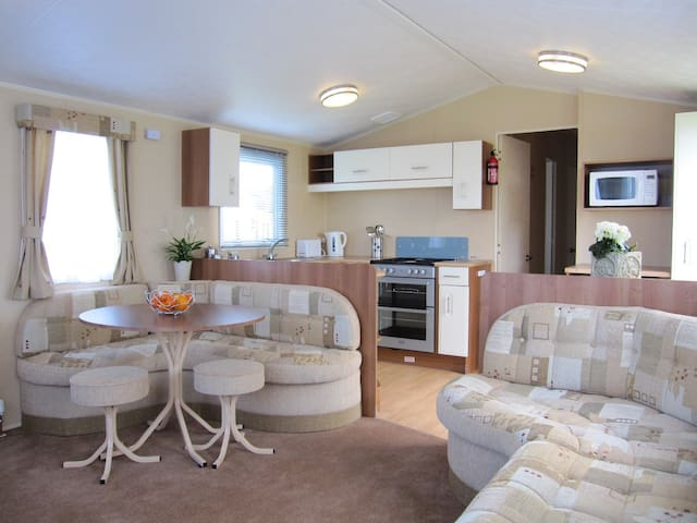 Tennyson Caravan at Holiday Park with Outdoor Pool