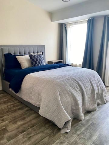Wake feeling refreshed in the spacious queen bedroom