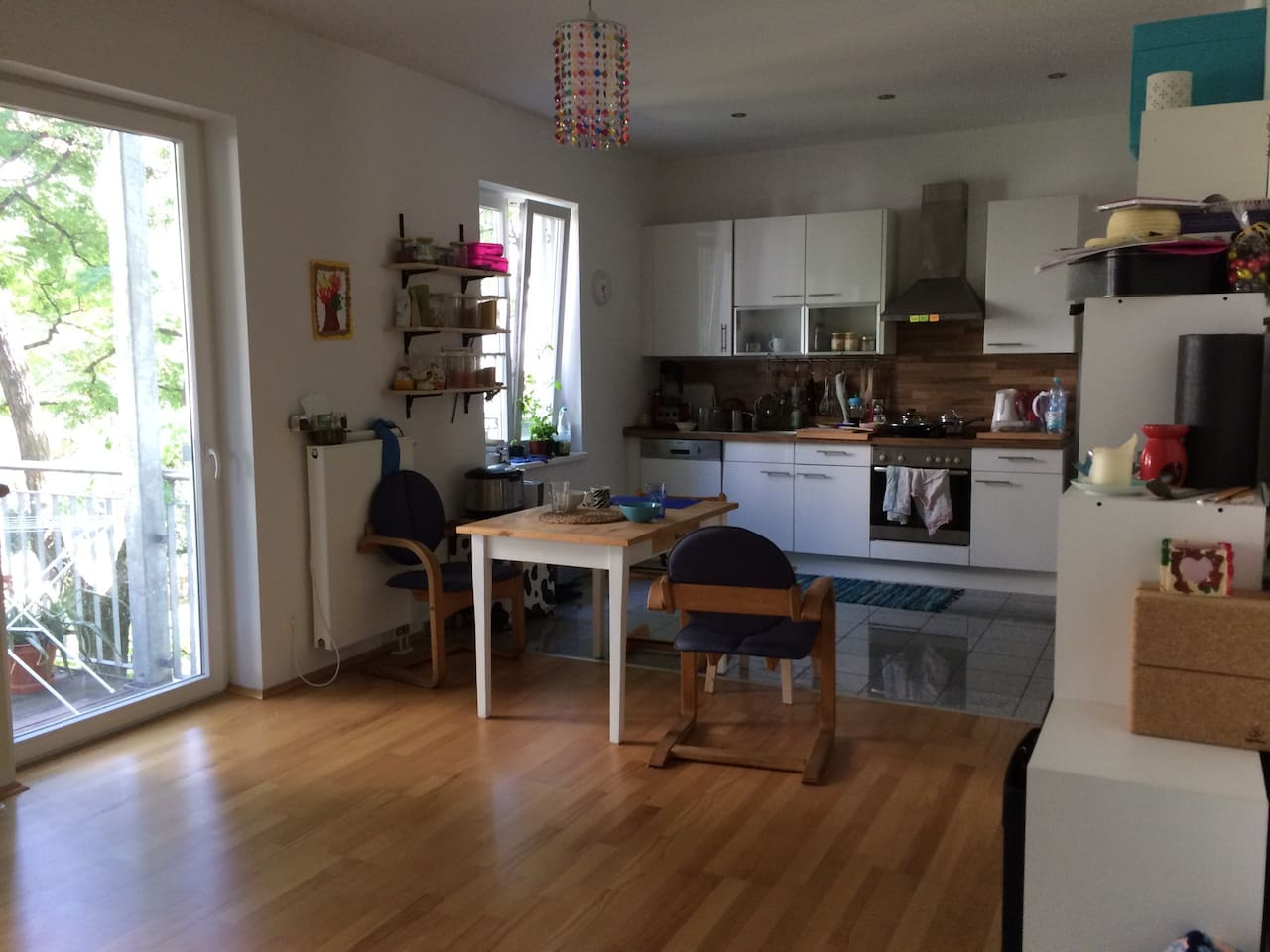 living with open kitchen