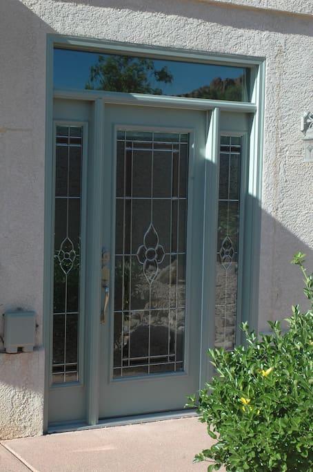 Side door to bedroom