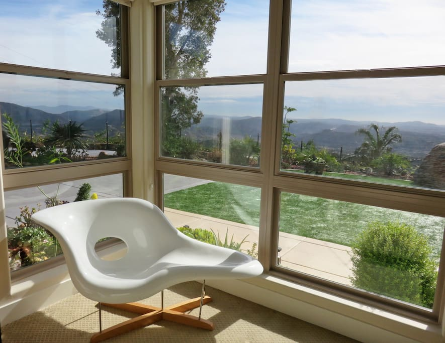 Sweeping views from interior living spaces