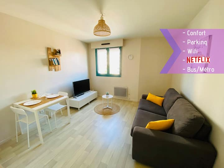 ★ Studio cosy Tout à pied★ Parking★ Lille Centre ★