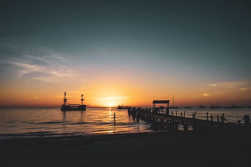 Los Corales Beach at sunrise