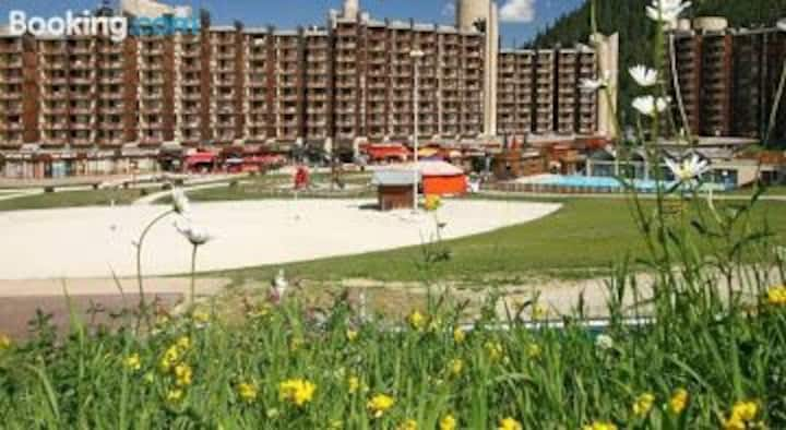 La Plagne Bellecote 5P piscine, draps fournis