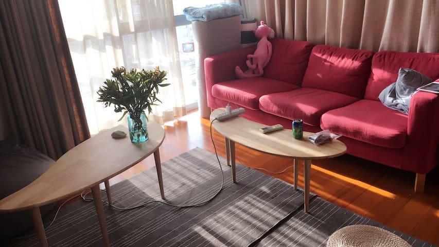 【松果】- 海淀中关村知春路高校环绕地铁温馨公寓的合住空间 - Beijing - Lägenhet