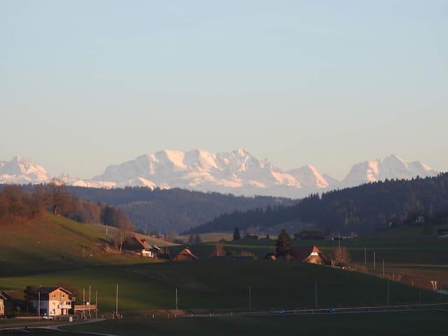 Ferienwohnung im Emmental mit Alpensicht