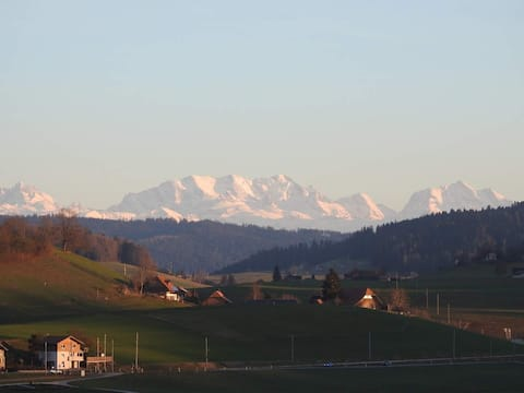 Apartment in the Emmental with a view of the Alps