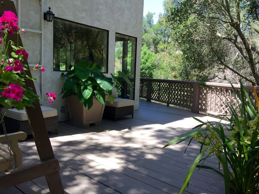 Patio outside the retreat